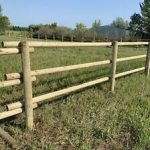 Farm Fence with post and rail