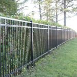 Black Ornamental Iron Fence